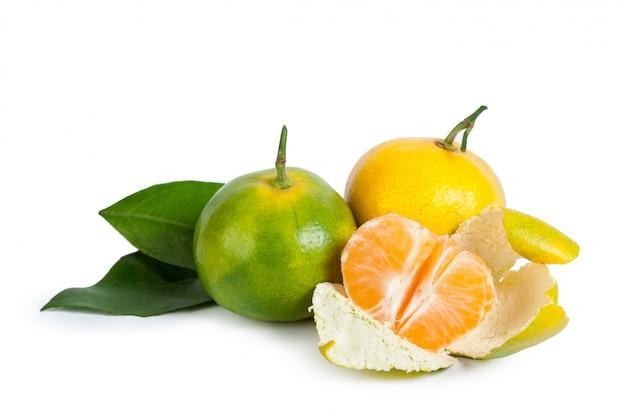 Mandarine getrennt auf weiß