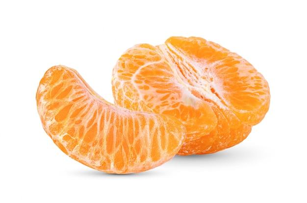 Mandarinen-zitrusfrucht auf weißem hintergrund