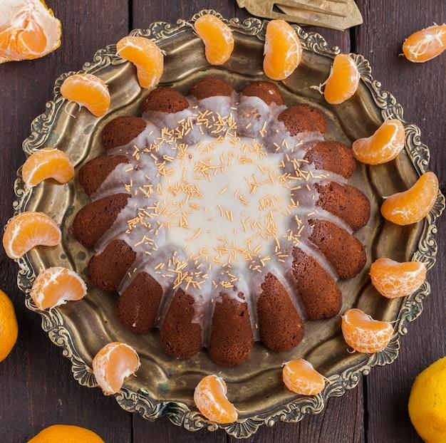 Mandarinenkuchen mit vanille