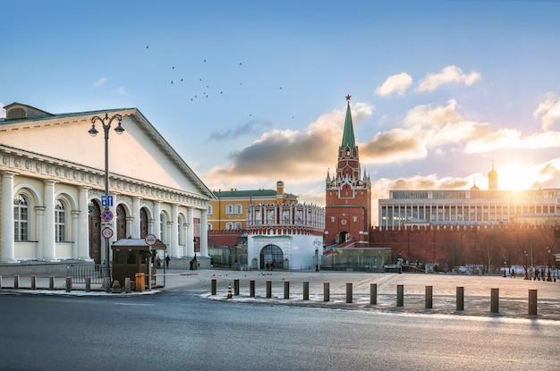 Manege in der nähe des kremls in moskau