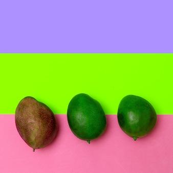 Mango creative minimal flat lay art