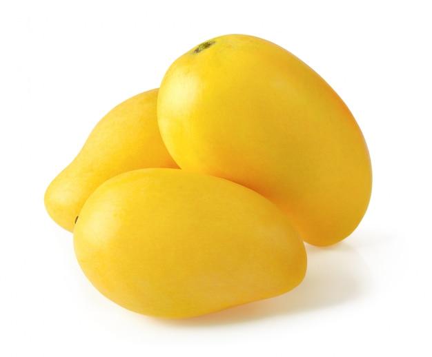 Mango, isoliert auf weiss