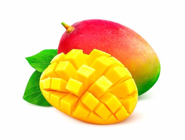 Mango isoliert auf weißem hintergrund