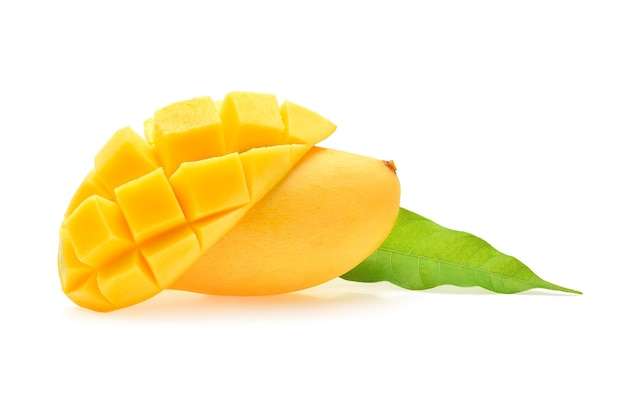 Mango lokalisiert auf weißem hintergrund