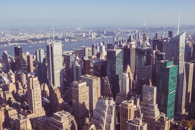 Manhattan midtown wolkenkratzer blick vom empire state building