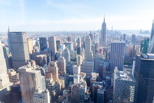 Manhattan mit empire state building panorama