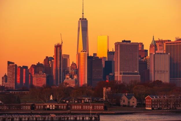 Manhattan sonnenuntergang nyc