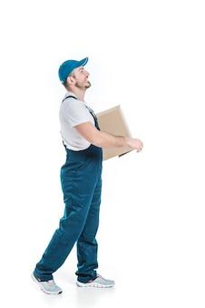 Mann, der paket liefert