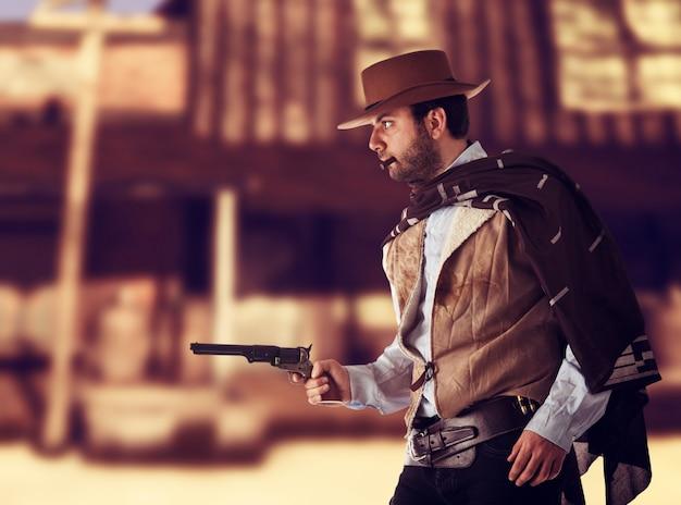 Mann im fernen westen