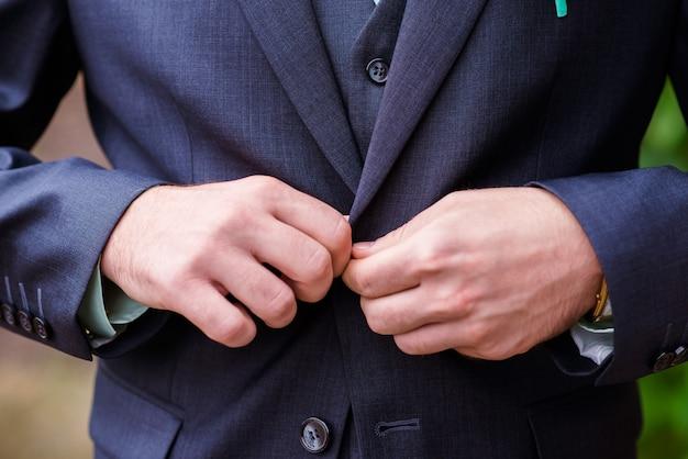 Mann kleid jacke.
