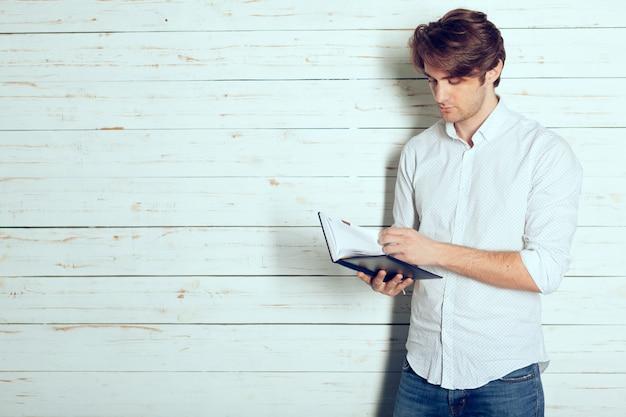 Mann porträt zu schreiben