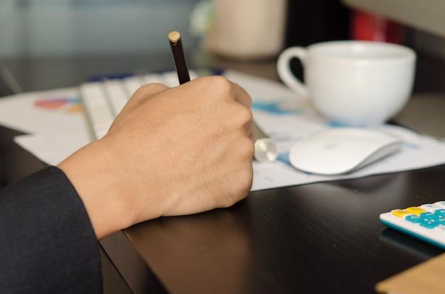 Mann schreibt