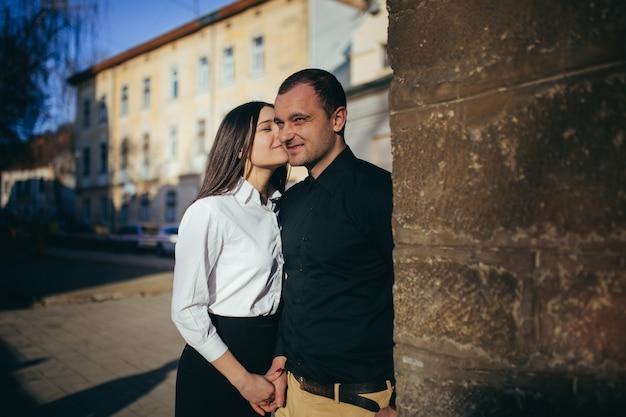 Mann und frau im liebespaar