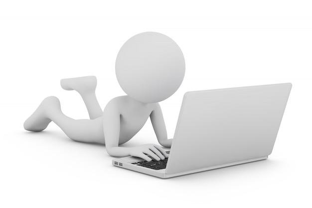 Mann und laptop