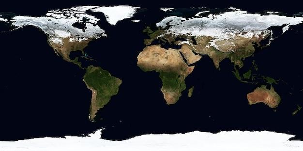 Map kontinenten winterklima erde januar zonen