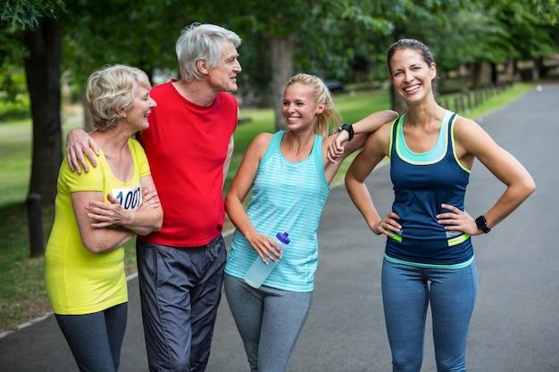 Marathonathleten posieren