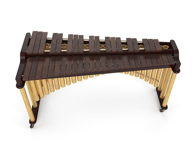 Marimba isoliert auf weiß