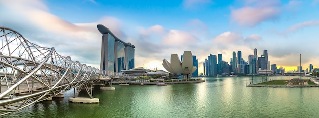 Marina bay sands und helix bridge