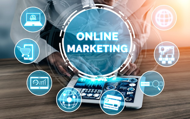 Marketing des digitaltechnik-geschäftskonzeptes