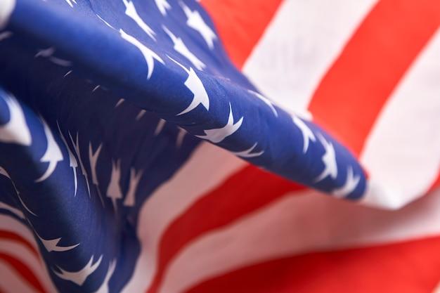 Markierungsfahne von amerika mit weißem holz