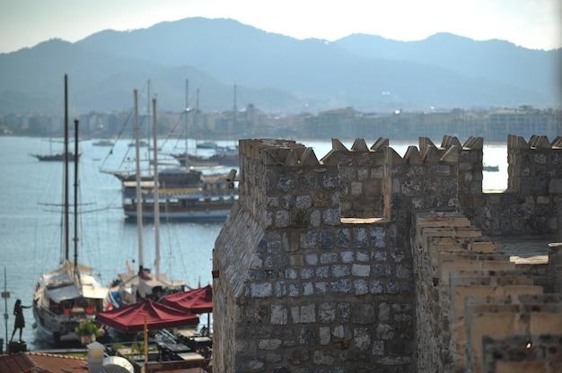 Marmaris, türkei marmaris castle innenansicht in der stadt marmaris. schloss marmaris ist beliebteste touristenattraktion in der türkei