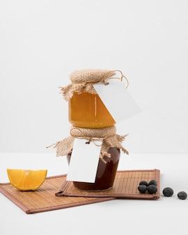 Marmelade im glasverpackungssortiment