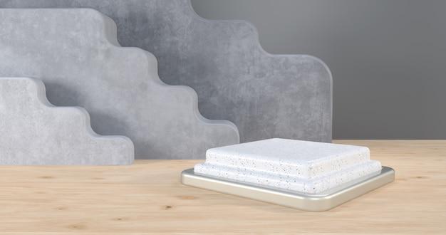 Marmor-podium für produktpräsentation, 3d-rendering,