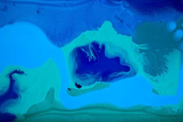 Marmorierter blauer abstrakter hintergrund. flüssiges marmormuster.