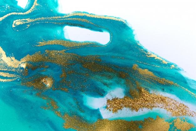 Marmorierter blauer abstrakter wellenhintergrund im ozeanstil. grafikabbildung mit copyspace