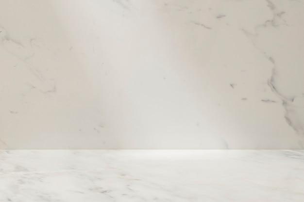 Marmorprodukt-hintergrundvitrine