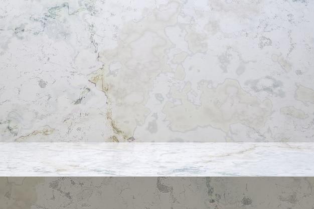 Marmortisch-luxushintergrund für anzeigeproduktstand mit leerem kopienraum für partei.