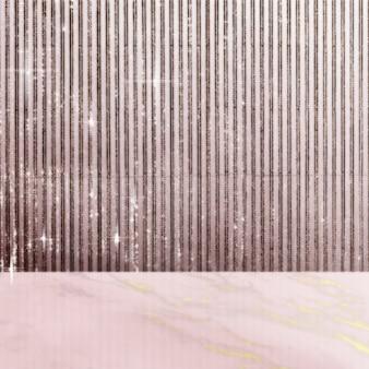 Marmortisch produkthintergrund, glitzerwanddesign