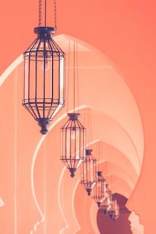Marokkanische architekturart der weinleselampe