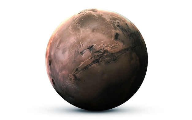 Mars im weltraum, 3d-illustration. .