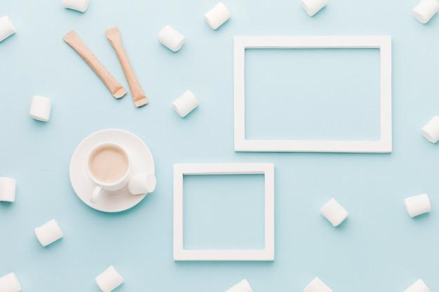 Marshmallow und kaffee