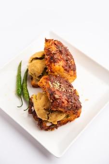 Masala vada pav oder wada pao ist ein indischer snack