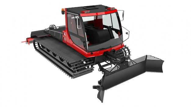 Maschine für das löschen der skisteigungen auf weiß lokalisiert
