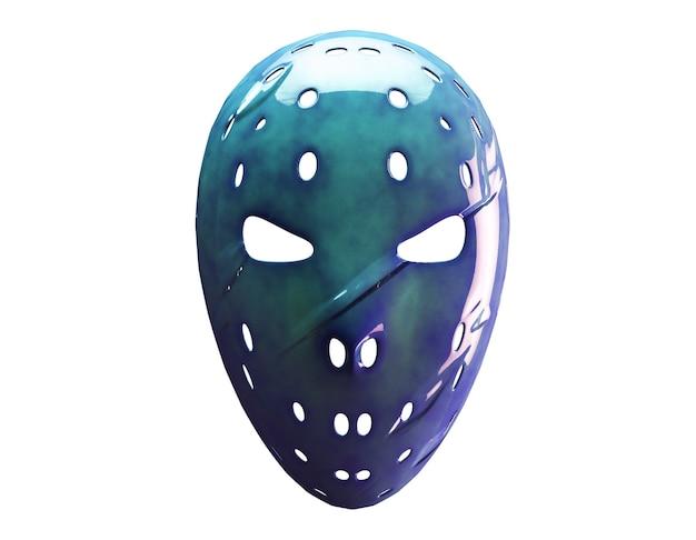 Maske auf weißem hintergrund, 3d-darstellung