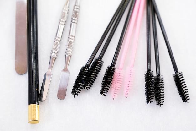 Maskenbildner-pinsel-set für professionelles make-up.