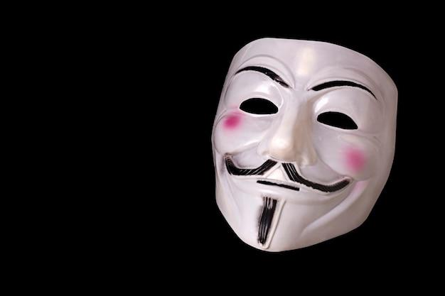 Maskensymbol der hacker-aktivisten anonym.