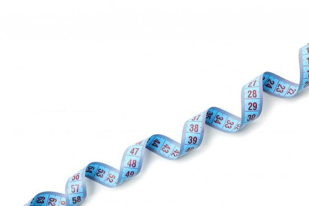 Maßband isoliert. gewichtsverlust