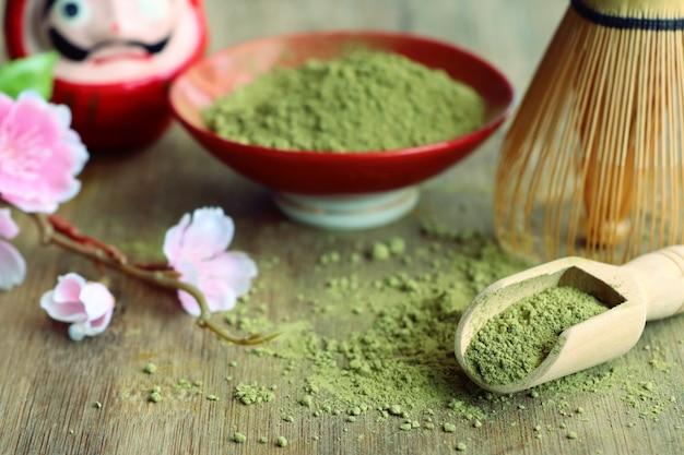 Matcha grüntee-pulver