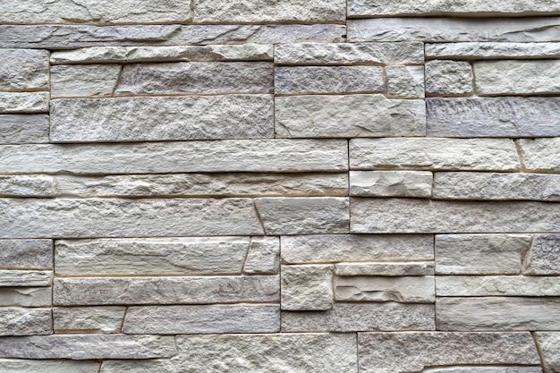 Mauerwerk aus dekorativem stein