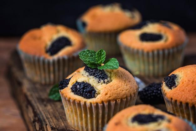 Maulbeer-muffin-kuchen