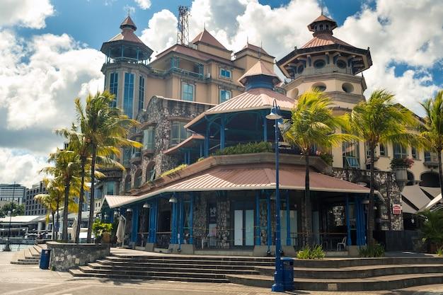Mauritius - 12. dezember 2019. das stadtzentrum in der hauptstadt von mauritius port louis