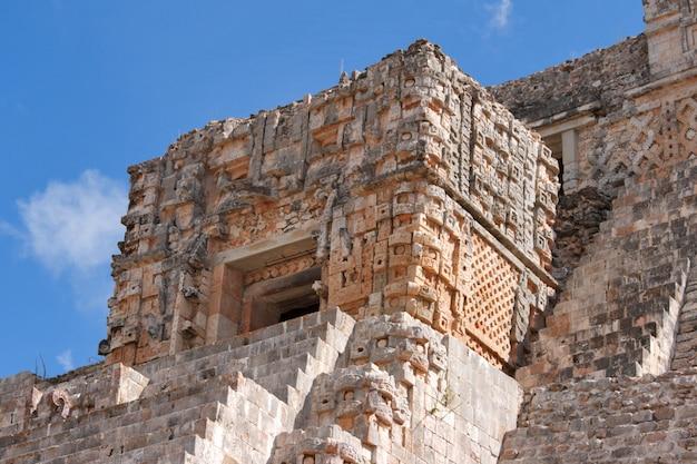 Maya-pyramide in uxmal, mexiko