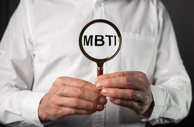 Mbti-wort-persönlichkeitstypologie-psychologietest für menschentypen