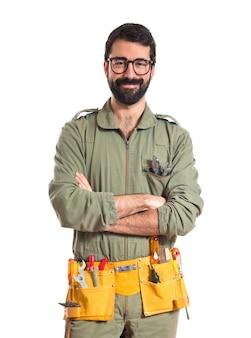 Mechaniker mit glasess