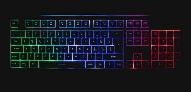 Mechanische tastatur mit led und maus