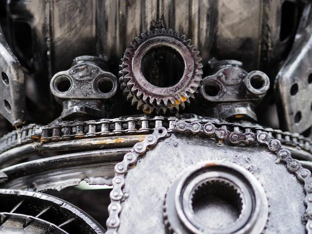 Mechanisches konzept über autoteile